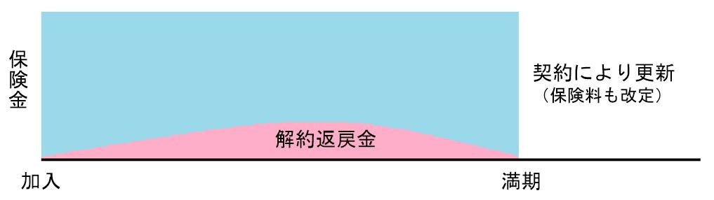 定期保険の概念図