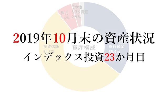 191101 2019年10月末の資産状況