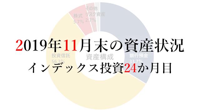 191201 2019年11月末の資産状況 インデックス24か月目