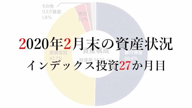 200301 2020年2月末の資産状況 インデックス投資27か月目