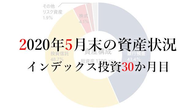 200601 2020年5月末の資産状況 インデックス投資30か月目
