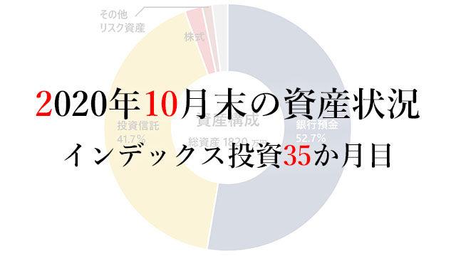 201101 2020年10月末の資産状況インデックス投資35か月目
